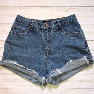 Vintage Denim High Waist Cutoffs 12 Jean Shorts